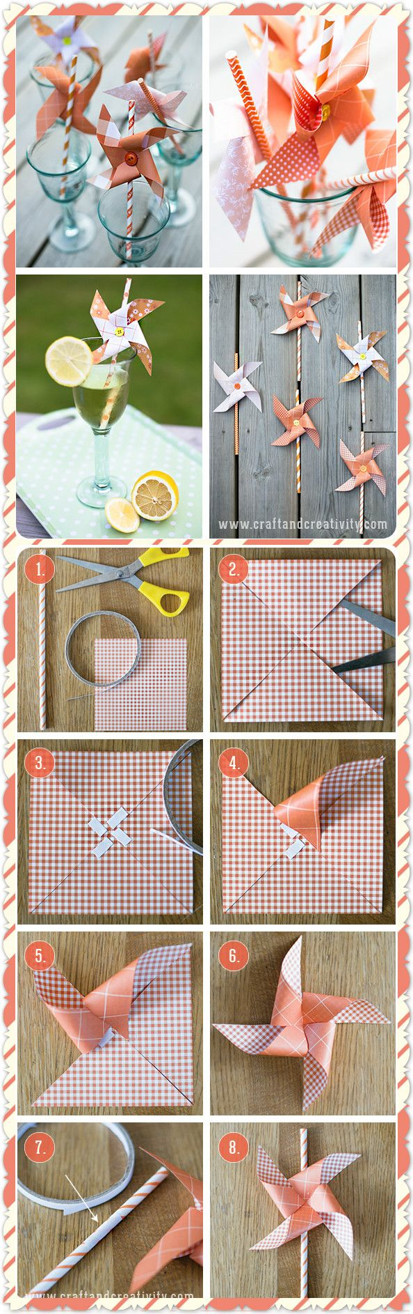 pinwheel paper straws.  Click www.welikecraft.com for more craft ideas!