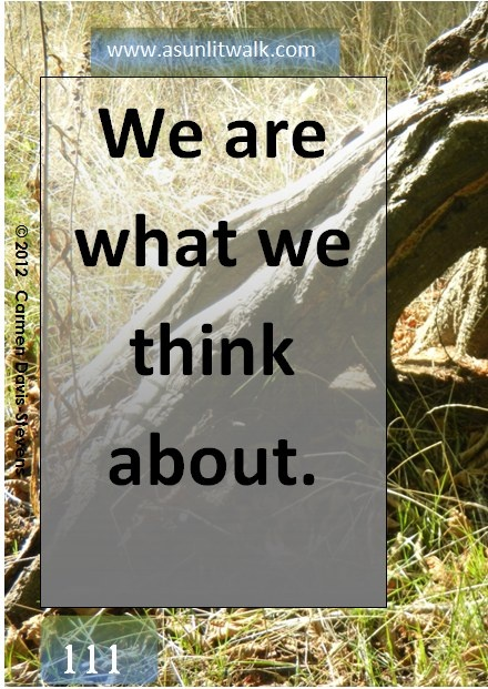 111 We are what we think about | A Sunlit Walk: Sunlit Walk, Positve Affirmations, Board Ask Believe Recieve