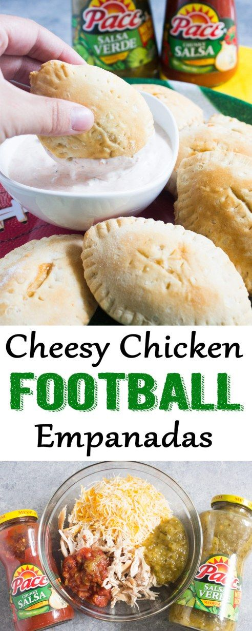 Cheesy chicken football empanadas | football | game day | appetizer | football appetizer |cheesy empanada | empanada recipe #empanadas #gamedayfood #appetizer #MakeGameTimeSaucy #ad