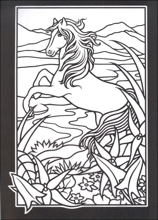 Abstract Horse Coloring Pages : Best images about abstract coloring pages on pinterest