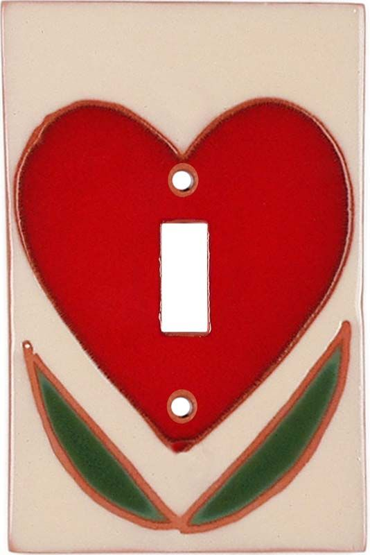 heart light switch plates outlet covers wallplates