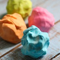 This silky-smooth 2-ingredient play dough can be made in just a few minutes with stuff you already have in your house--hair conditioner and cornstarch!