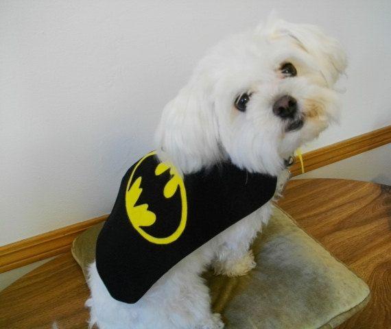 Small Dog Puppy Cape Costume Batman Batdog Dress By