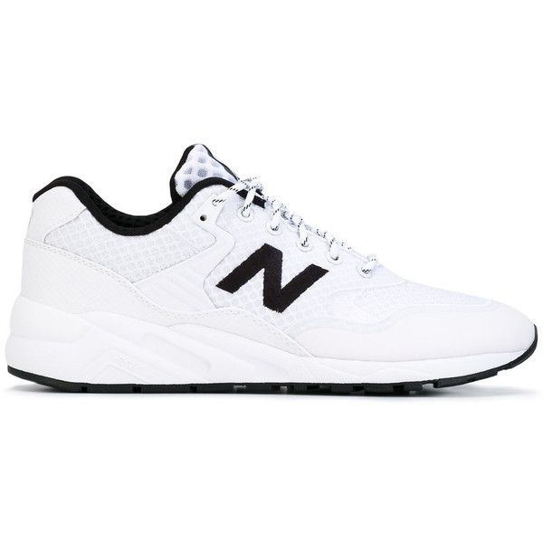 New Balance lace up trainers ($125) ❤ liked on Polyvore featuring men's fashion, men's shoes, men's sneakers, white, new balance mens shoes, mens white sneakers, mens lace up shoes, new balance mens sneakers and mens white shoes