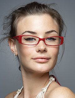 Rectangular Frames with side accents - not ideal if you have already a square face. It makes it appear wider. Strive for oval shapes that align exactly with the sides of your face.