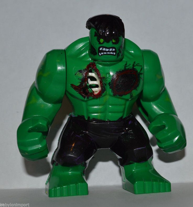Custom LEGO Marvel Super Heroes Zombies HULK Big Fig ...