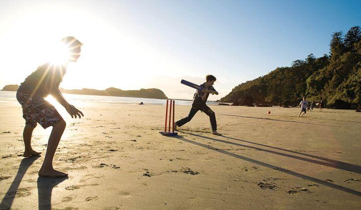 Beach cricket  http://www.australiantraveller.com/wp-content/uploads/2013/12/106030-635_BeachCricket.jpg
