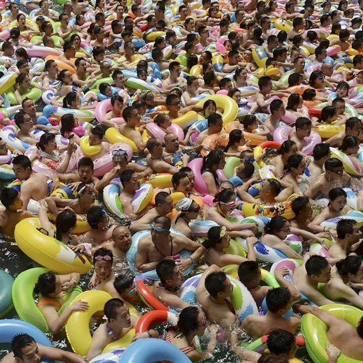 Metaphorical crowd from China.