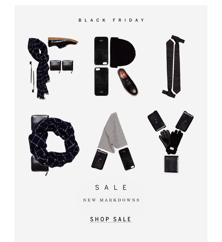 The type is made up of clothing items which obviously ties in very well with the focus of attention - a clothing sale. It's fairly simplistic yet direct in its message.