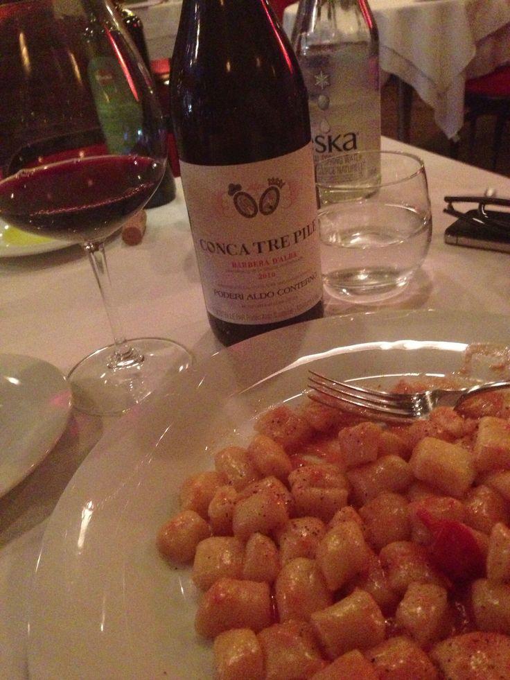 Gnocchi chez Pagliaccio et #vin Aldo Conterno