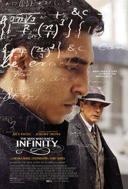 """The Man Who Knew Infinity."" This biopic about the Indian mathematician Ramanujan and his relationship with G,H. Hardy is conventionally done, but the story is remarkable. The conflicts between Hardy's insistence on proofs and Ramanujan's belief in intuition are well depicted."