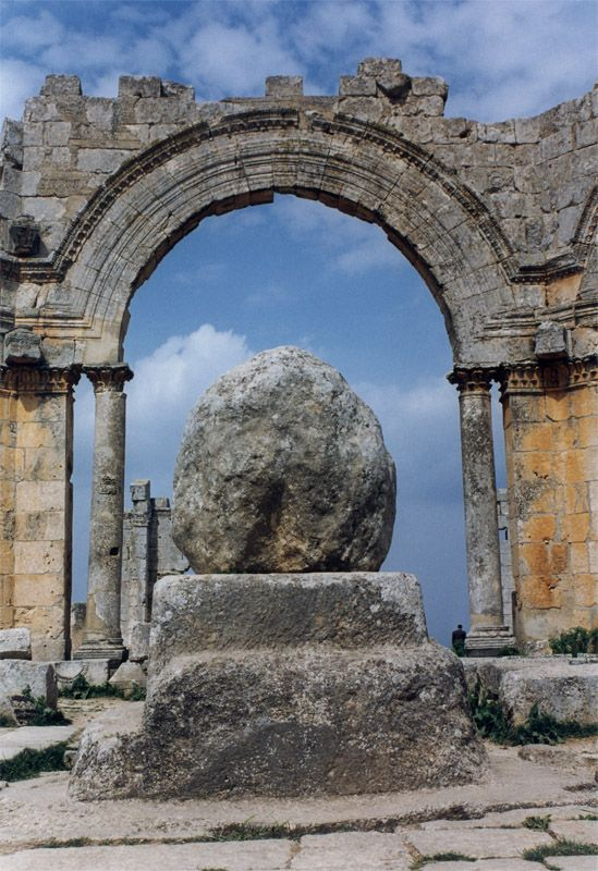 The remains of the pillar of Saint Simeon Stylites