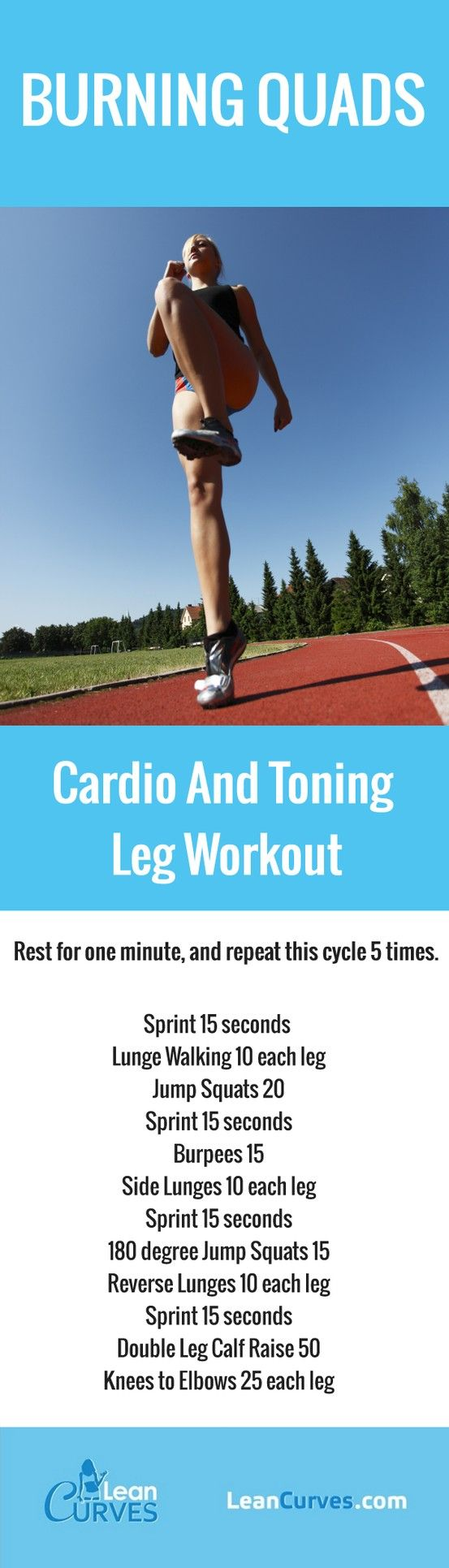 Burning Quads Cardio And Toning Leg Workout...if I feel it the next day I know it works #getfit