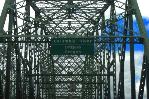 Oregon/Washington border USA