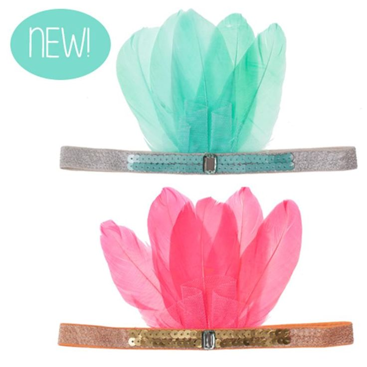 Feather and sequin head band