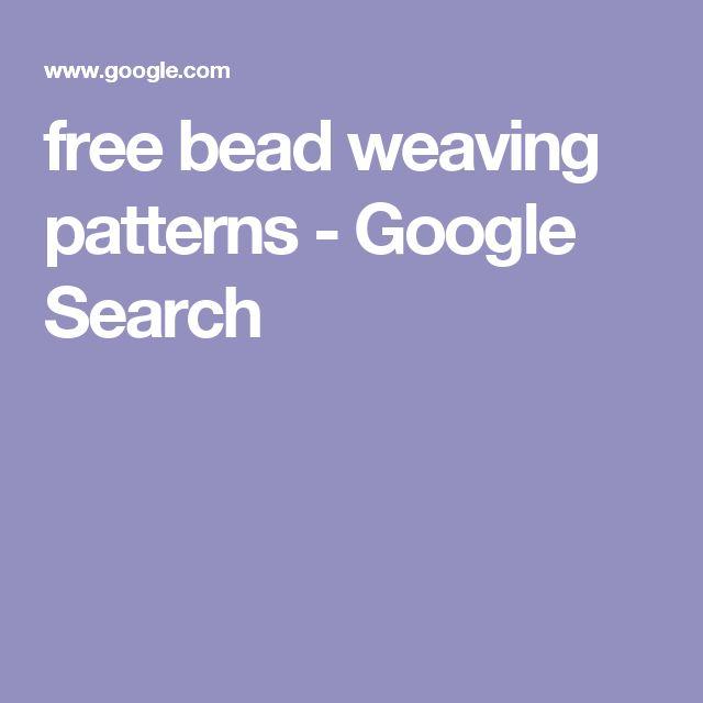 free bead weaving patterns - Google Search