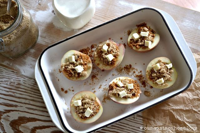 our vintage home love: Simple Stuffed Peaches