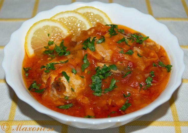 Плакия (курица, тушённая в овощном маринаде по-болгарски). Балканская кухня