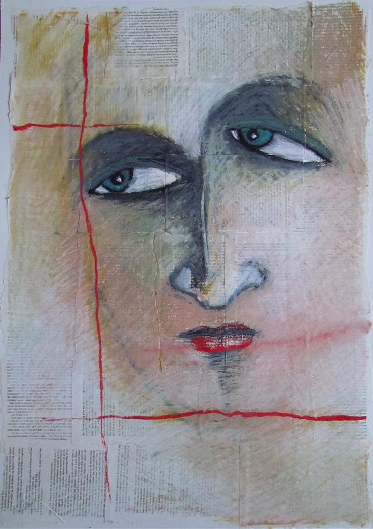 Åse Margrethe Hansen/Portrait. Mixed media, 2012