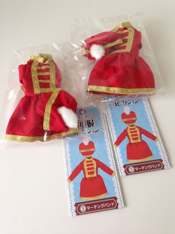 Re-ment Blythe / Licca Clothes Set: Marching Band Twins (Ref. RE1) #Rement #ClothingAccessories — for sale on Ebay