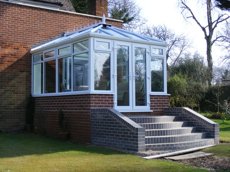 Edwardian Conservatories with steps 2. http://www.finesse-windows.co.uk/conservatories.php