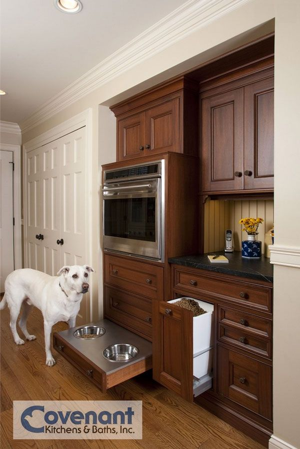 Genius Ideas 10 Custom Pet Feeding Stations For The Kitchen Dog