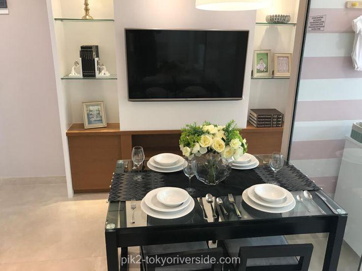Show unit living room apartemen Tokyo Riverside Jakarta