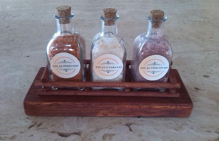 Sets de sales aromatizadas en formato botella.