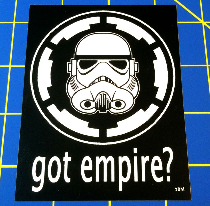 Star wars got milk parody homage tribute sticker featuring storm trooper helmet