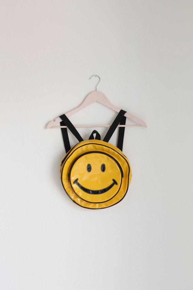 VTG Smiley Face Mini Backpack