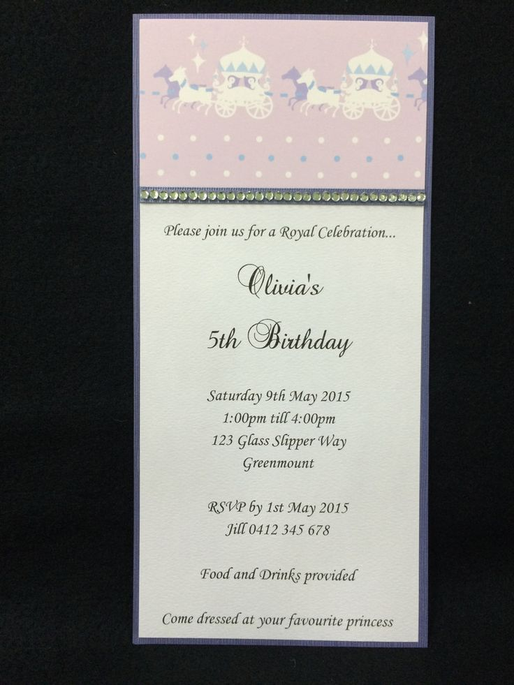 Invitation - Kids Birthday - Princess - Olivia