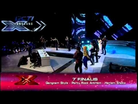 7 FINALIS  -  PARTY ROCK ANTHEM, GANGNAM STYLE, HARLEM SHAKE-GALA SHOW 7 X Factor Indonesia 5/4/2013