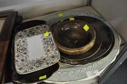 CHINA - Meat Platter  Plate and Bowls  Includes Ridgways Royal Vistas Ware