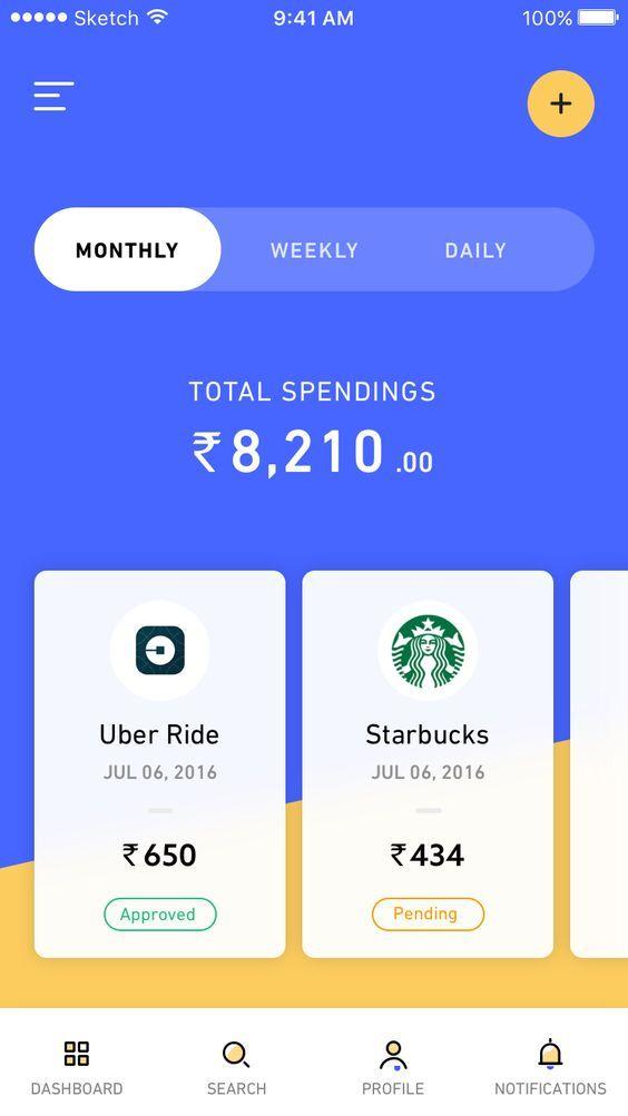1 spending app home: