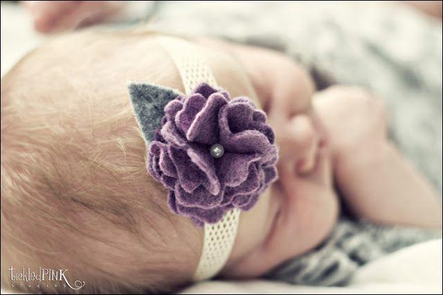 Felt flower tutorial. I love making headbands for baby girl!