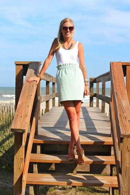 seersucker skirt- I love emily h!