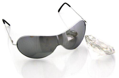 Oramics Moderne Sonnenbrille Silber verspiegelte Brille 400UV