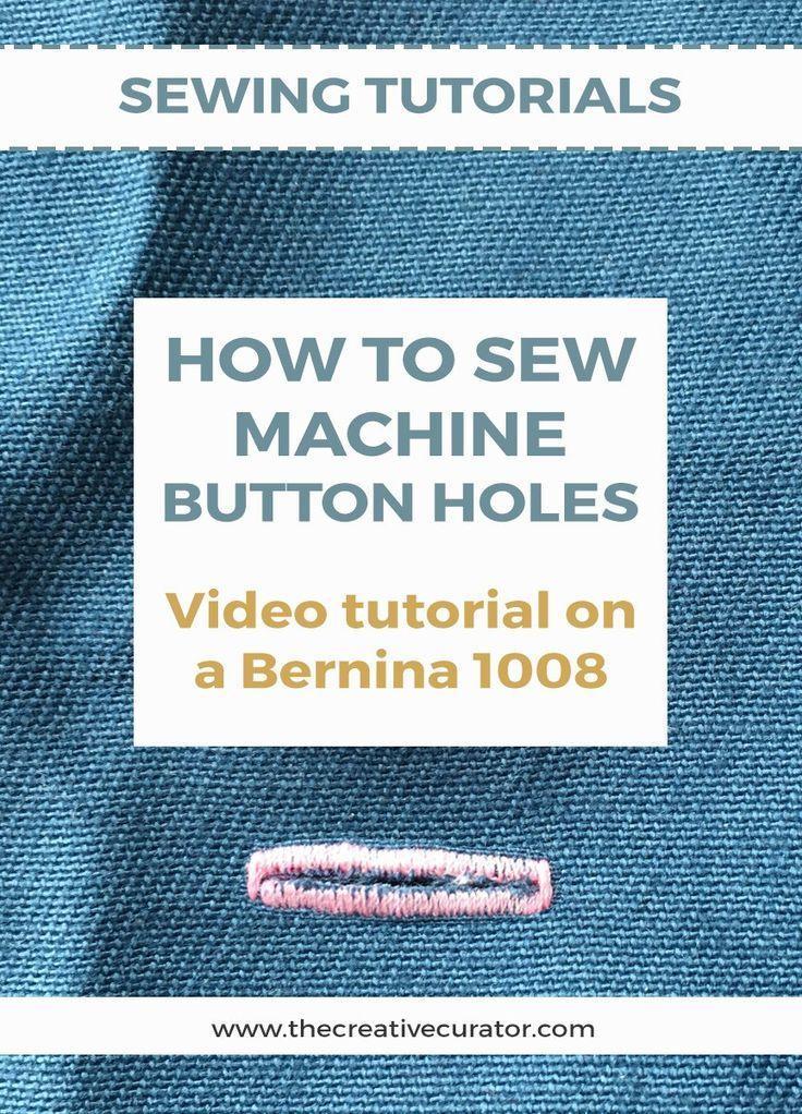 How to sew a machine button hole on a Bernina 1008