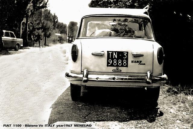 A Fiat 1100, year 1967    Credits: http://www.flickr.com/photos/30797788@N03/5045063761/