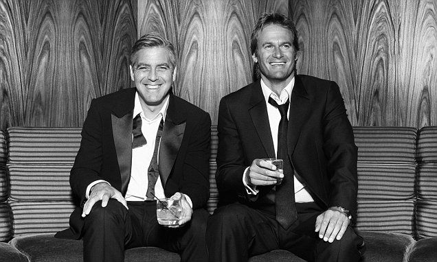 George Clooney and Rande Gerber promote their Casamigos Tequila brand