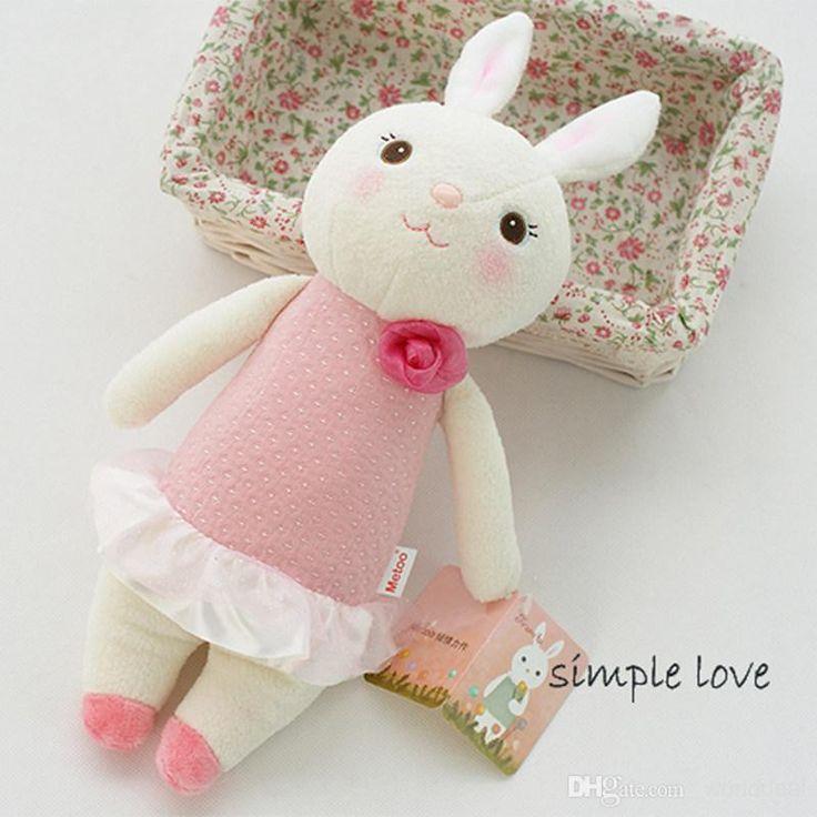 Прекрасный Кролик Плюшевые Куклы 37см Мультфильм Банни Игрушка В Подарок Ребенку Свадьба
