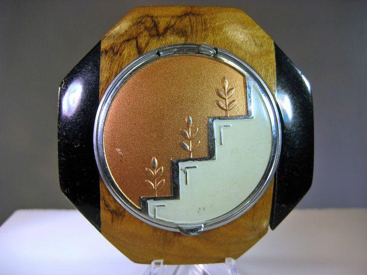 Evans Tapsift Art Deco Era Compact Polished Wood and Bakelite?