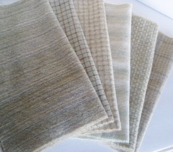 This is a nice wool bundle of 6 Naturals - Creamy whites, and soft tans that are much needed naturals for your pieces. Great for snowy scapes,