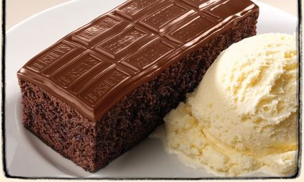 Easy to make !! Use your very own chocolate cake recipe and add a full Hershey bar on top and bake it