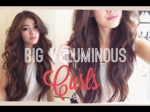 ▶ Voluminous Curls - YouTube I want hair like this!!