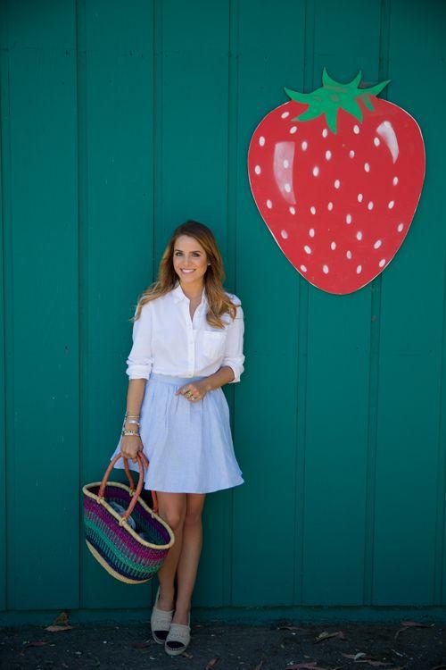 Gal Meets Glam- Gap Shirt, Joie Skirt, Chanel Espadrilles