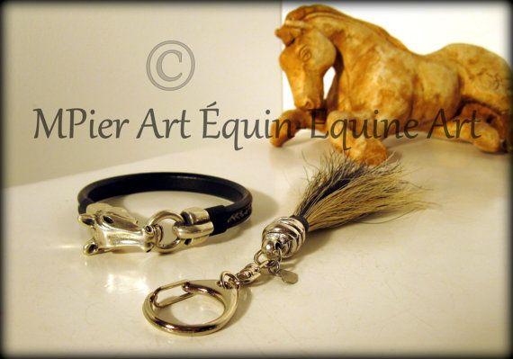 Bracelets en crins de chevaux par MPierArtEquin sur Etsy