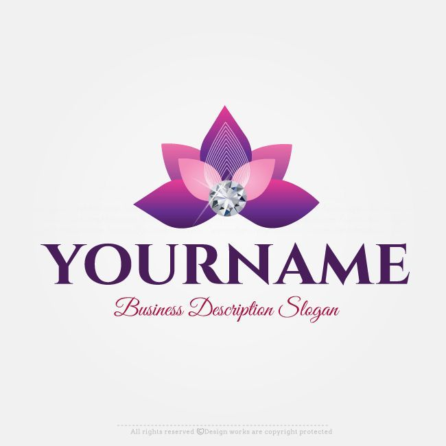Kostenlose Logo Maker Flower Diamond Logo Design Vorlage Diamond Flower Kostenlose Logo Logodesignvorlage Logo Design Vorlage Logo Maker Logo Design