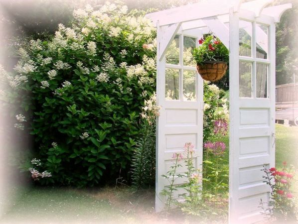 Jeanneu0027s Door Arbor Makes A Charming Focal Point In The Garden,u2026 Http:/