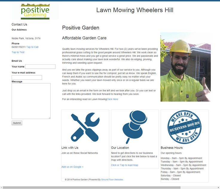 http://www.groundfloorwebsites.com.au/wp-content/uploads/2015/04/LawnMowingWheelersHill.jpg  Lawn Mowing Wheelers Hill - Lawn Mowing Wheelers Hill  Hello Anouar,  Here is your minisite for wheelers hill   - http://www.groundfloorwebsites.com.au/lawn-mowing-wheelers-hill/